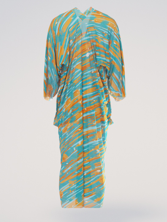Caftan silk orange