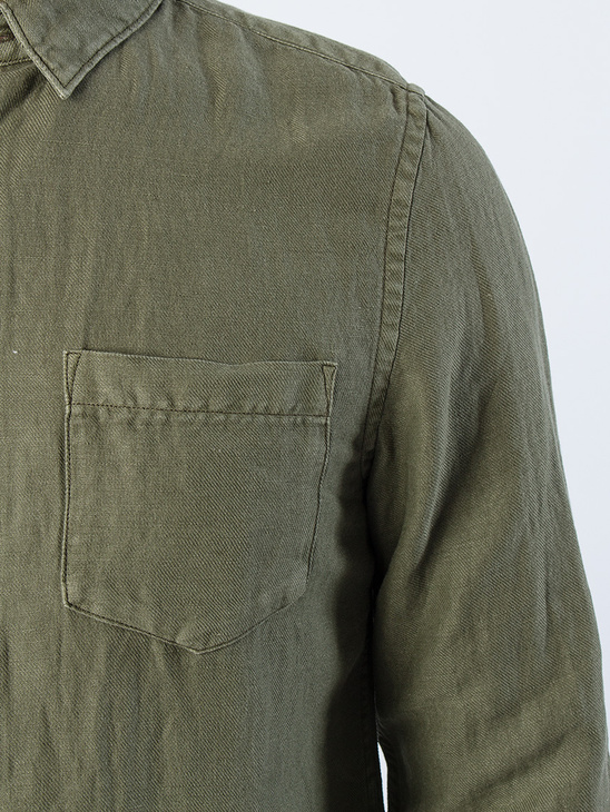 APLACE Drill Cotton Shirt Military - Neuw