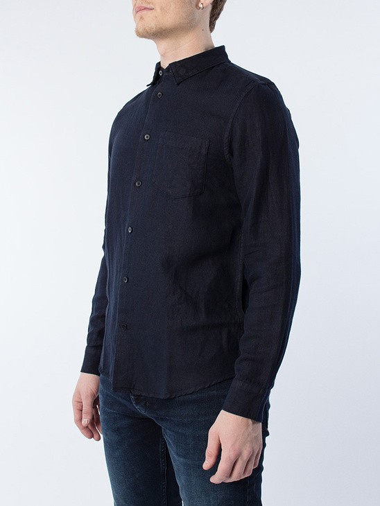 Drill Cotton Shirt Dark Navy