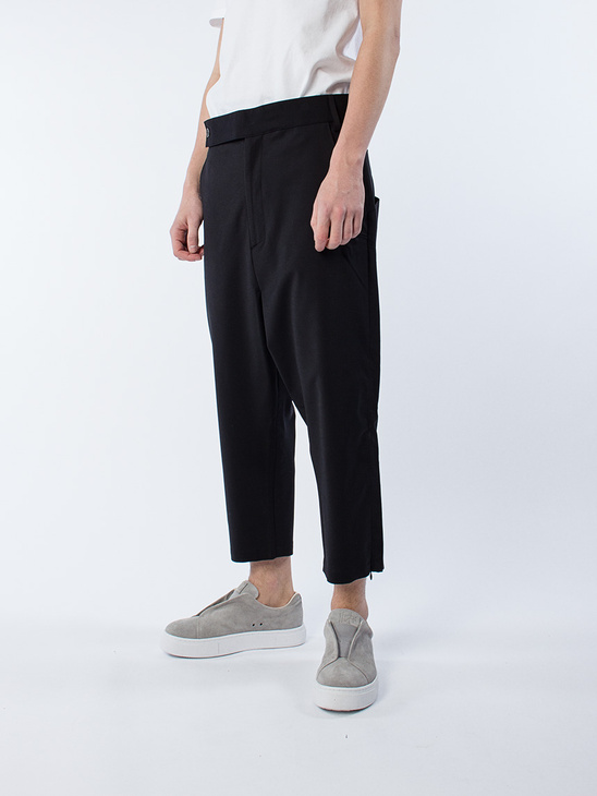 Drop Crop Slit Pants