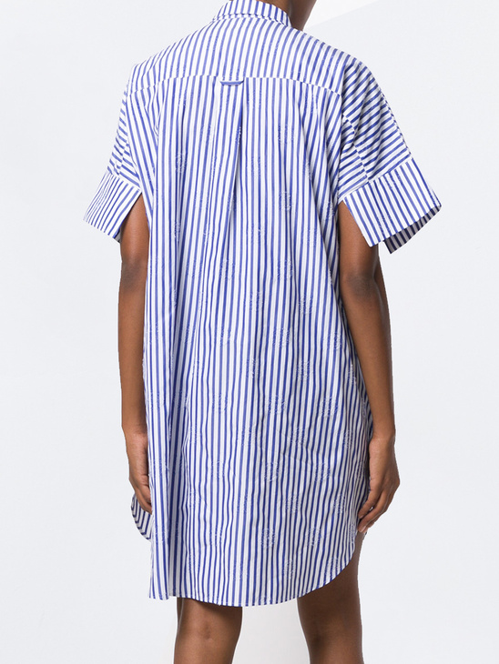 Sleepless Dress Blue Stripes