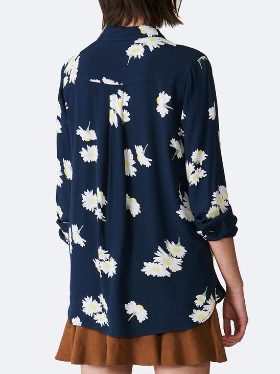 Silvery Crepe Shirt