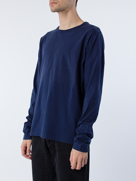 Blue Plain L/S T-Shirt
