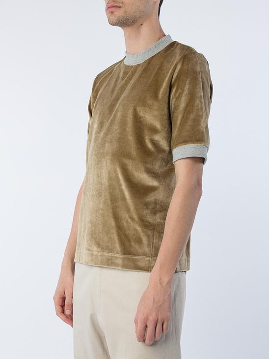 Beige Velvet T-Shirt