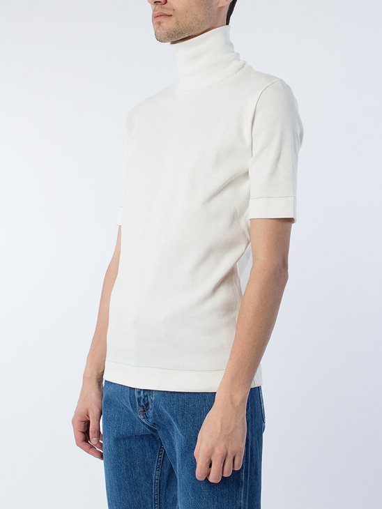 S/S turtle Neck White