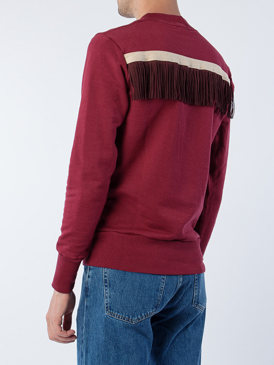 Burgundy Sweat W/ Fringes