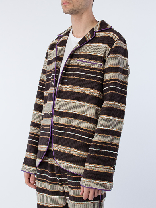 Overshirt Browns Striped
