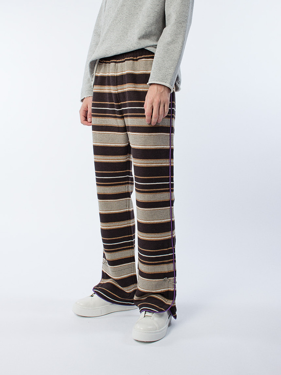 Elastic Waist Trousers Brown