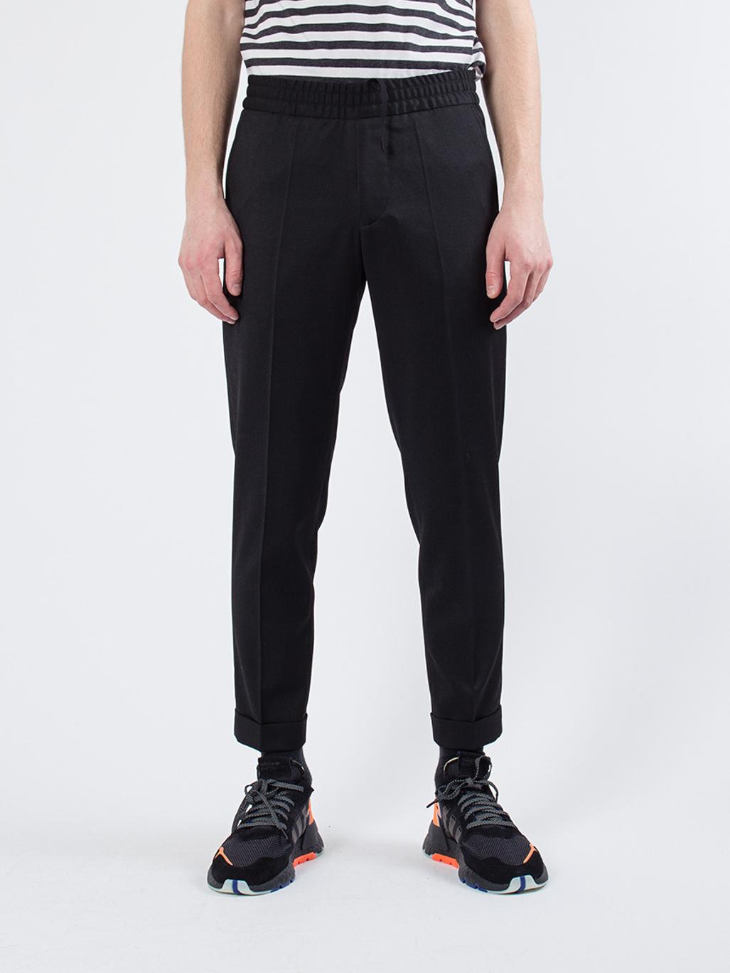 5835fc9fbb8 M. Terry Gabardine Cropped Trousers Black - Filippa K