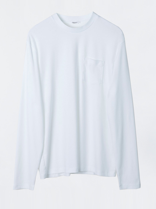 fe470431b Filippa K M. Mercerised Long Sleeve Tee White
