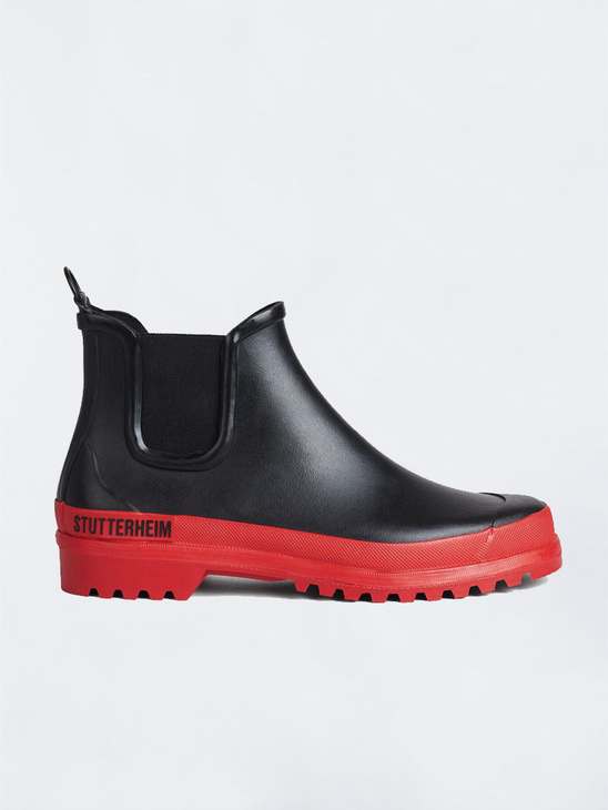 uk availability 01b33 1b228 Stutterheim Chelsea Rainwalker Blk Red ...