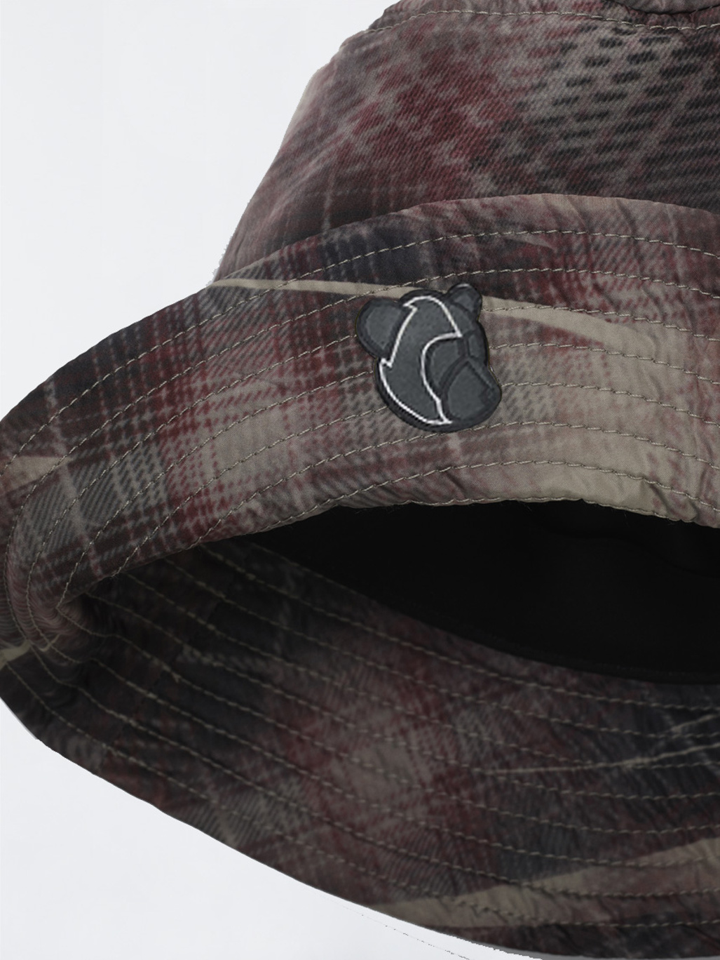 e3afa9f079e Bucket hat w  Teddy logo Check Print