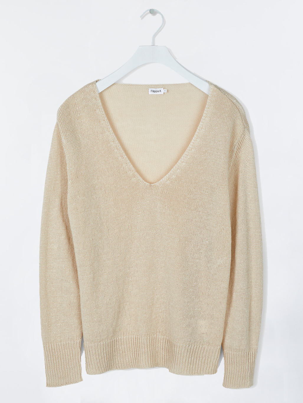 6a56c51197e Shiny linen V-neck Sahara - Filippa K