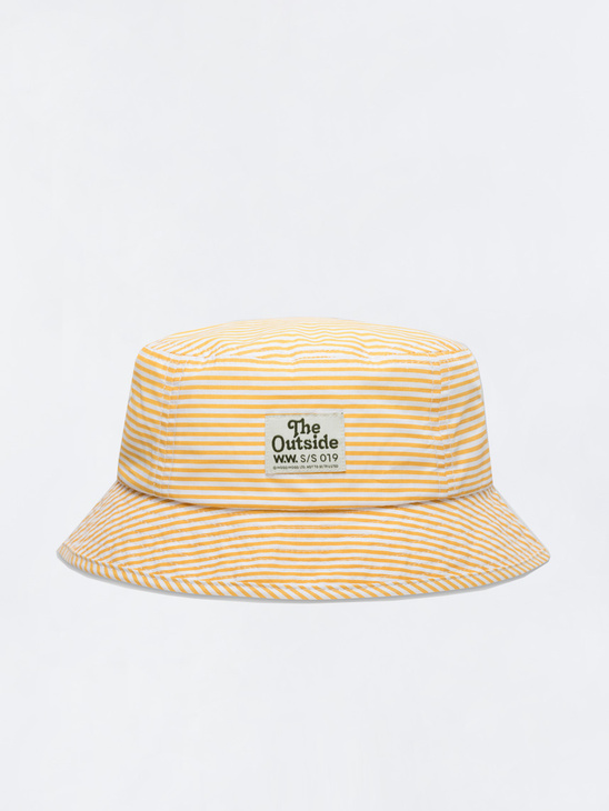 3fe8ceb0a4f Wood Wood Charlie Bucket Hat White   Yellow Stripes