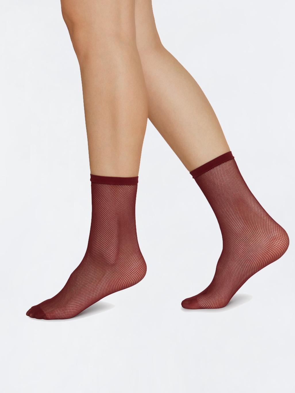 291c3250e8b Elvira Net Socks Wine - Swedish Stockings