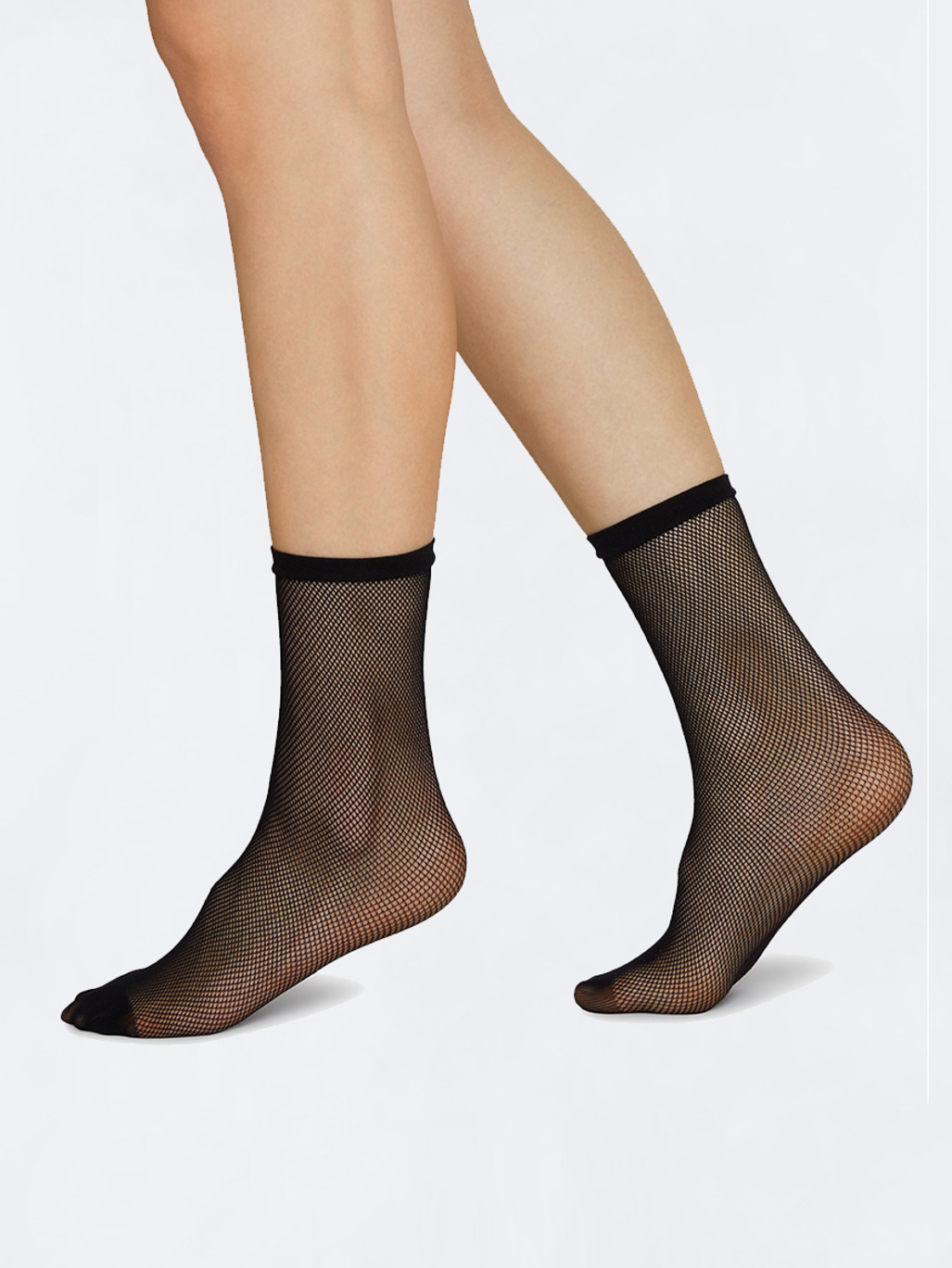 a1dff149e6b Elvira Net Socks Black - Swedish Stockings